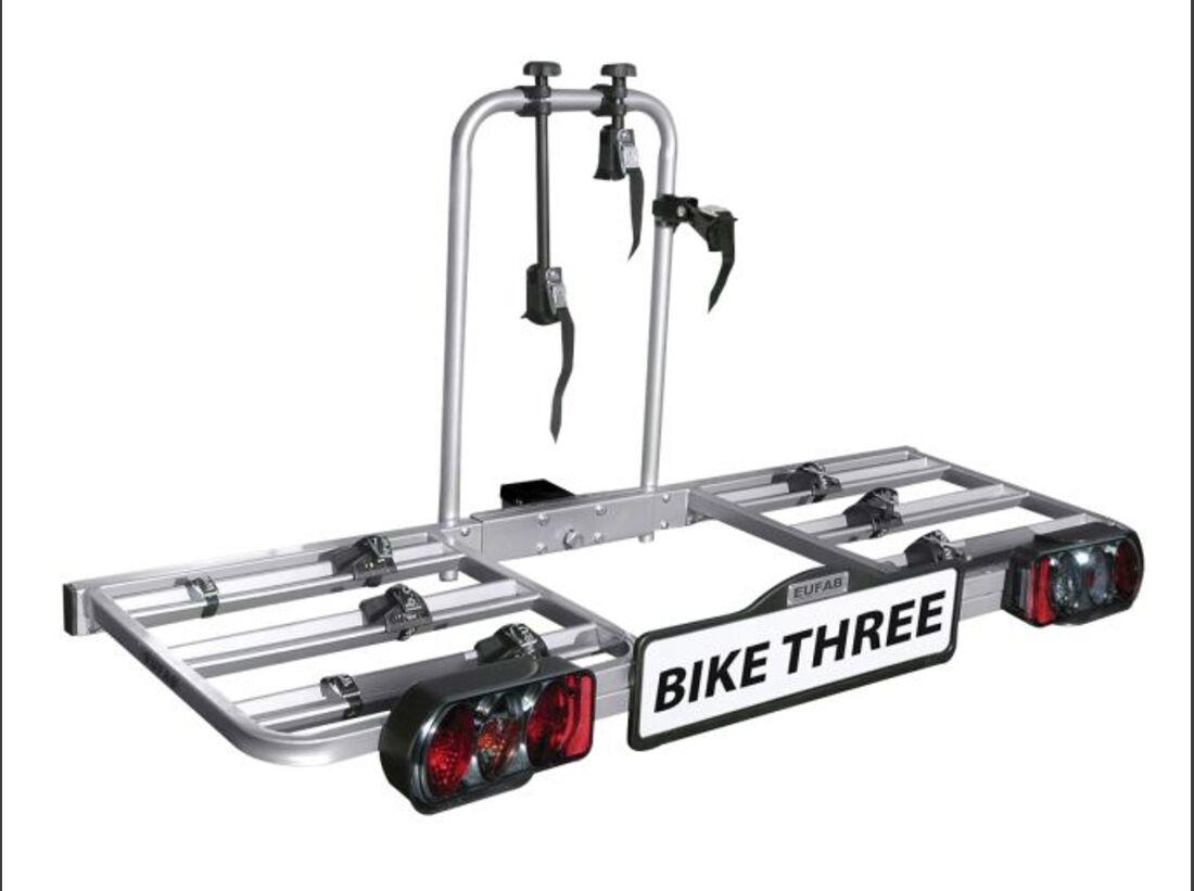 MB Fahrradträger Marktübersicht Anhängerkupplungsträger 2016 Eufab Bike Three