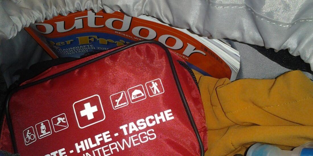 OD 0214 Packliste Tourenplanung Rucksack Erste-Hilfe-Set