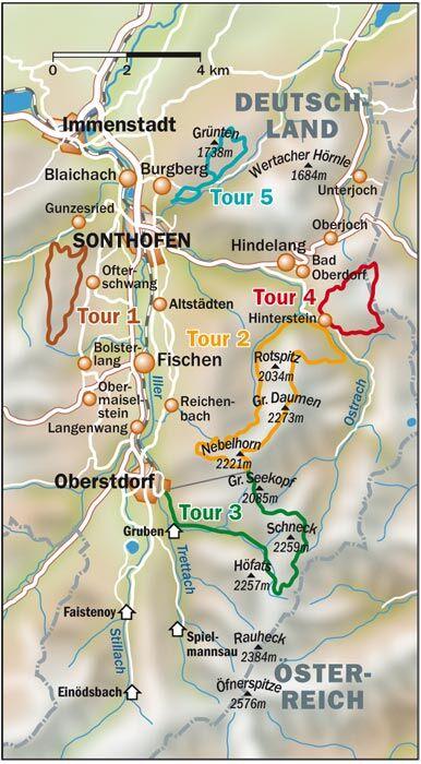 OD 0308 Allgäu Infos Karte