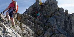 OD 0419 Oberstdorf Allgaeu Allgaeuer Alpen Tour 4 Hindelanger Klettersteig Teaser