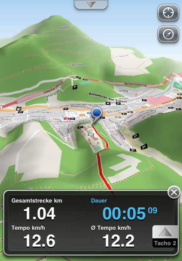 OD 0812 GPS-Navigation Handy Smartphone App Movingworld Maps3D