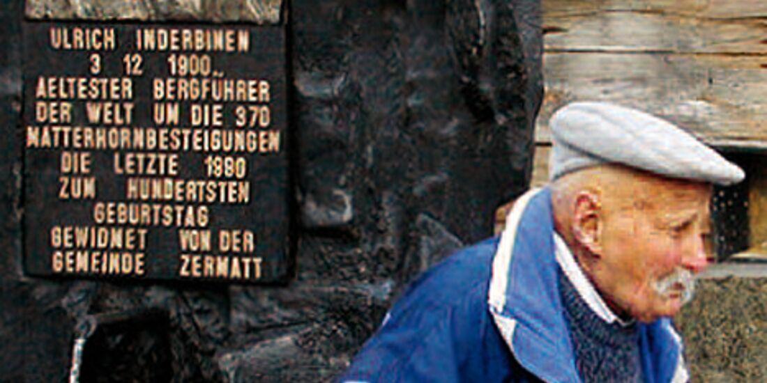 OD 2012 Mammut Buch Bergführer Legenden Ulrich Inderbinen hoch