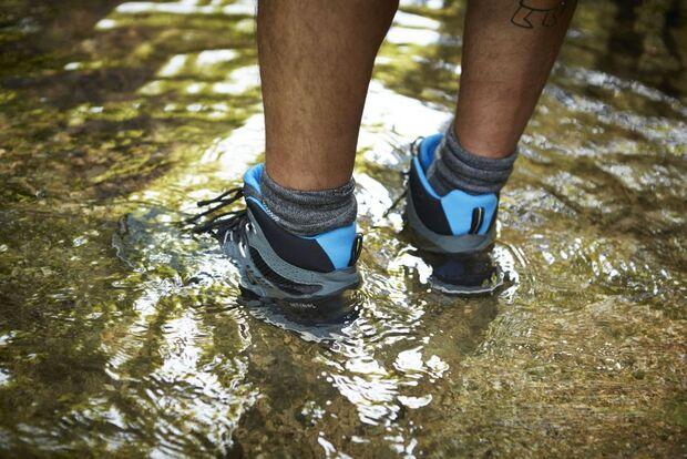 OD 2015 Gore Tex Surround Lesertest Schwäbische Alb Wasser wasserdicht Dichtigkeit Fluss Wanderschuhe Schuh