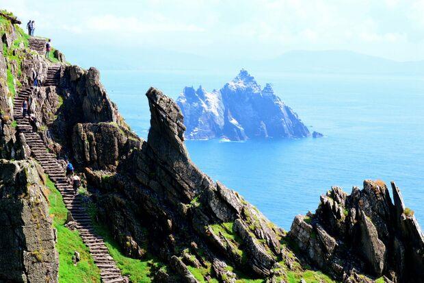 OD 2018 Skellig Michael Wandern treppen KEEN Special Irland Tourism Ireland