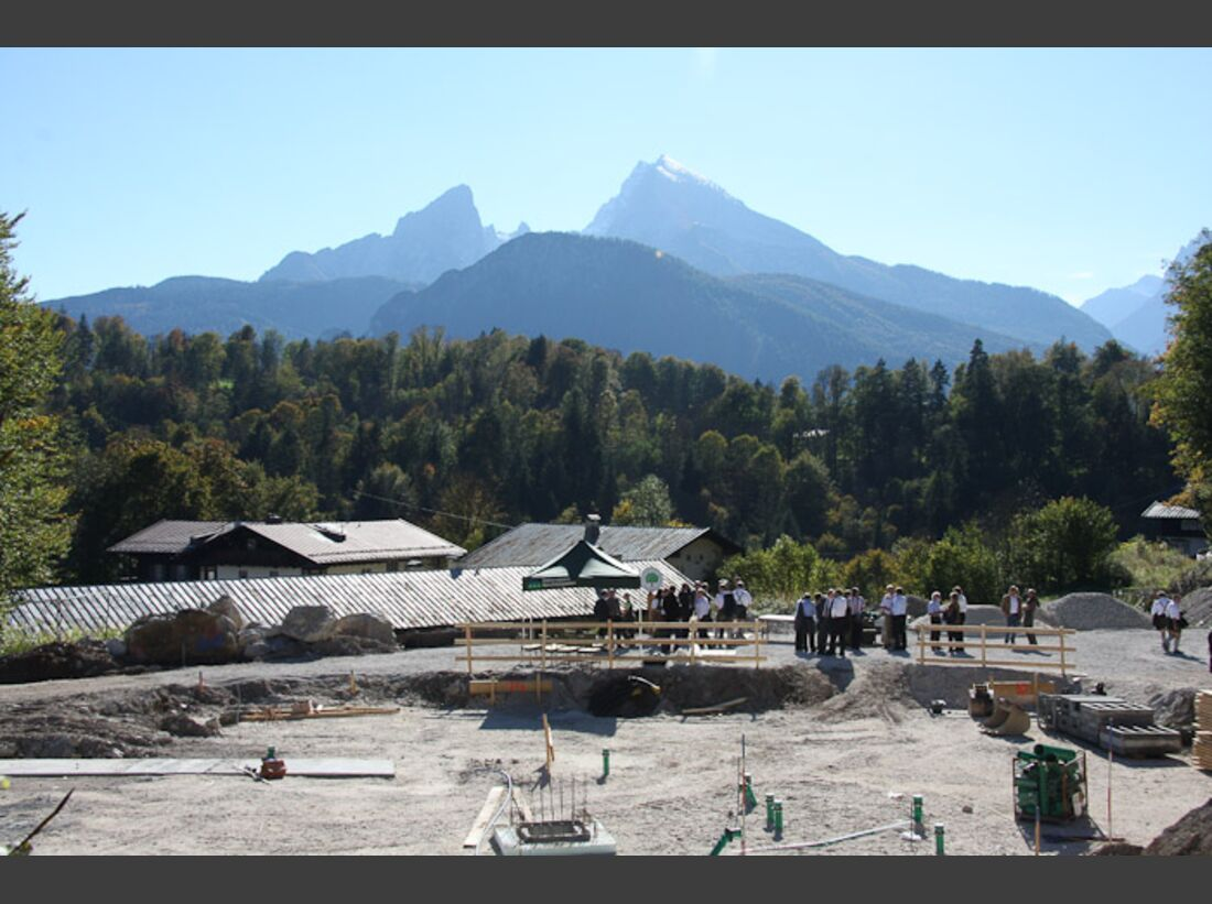 OD Haus der Berge Grundsteinlegung Bayern