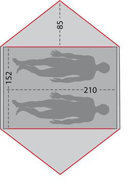 OD Kuppelzelt-Test - Robens Kestrel 3 - Zeltskizze
