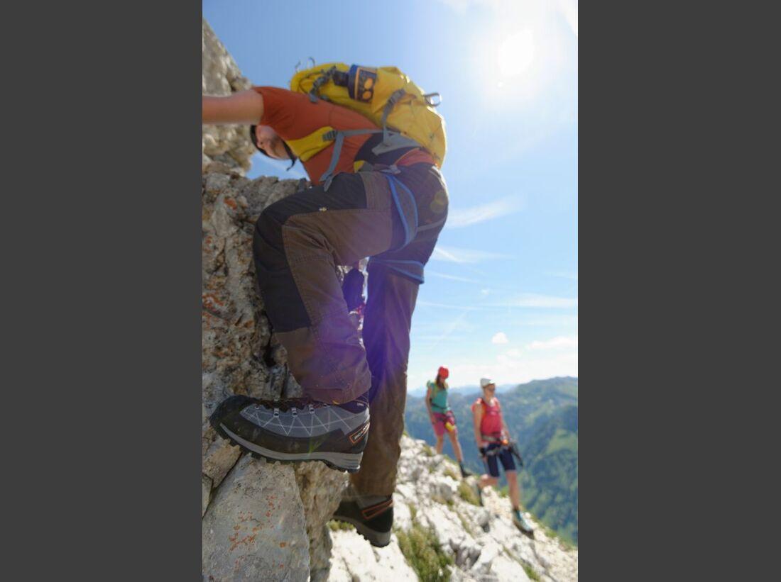 Praxistest in den Alpen: Bergschuhe  40