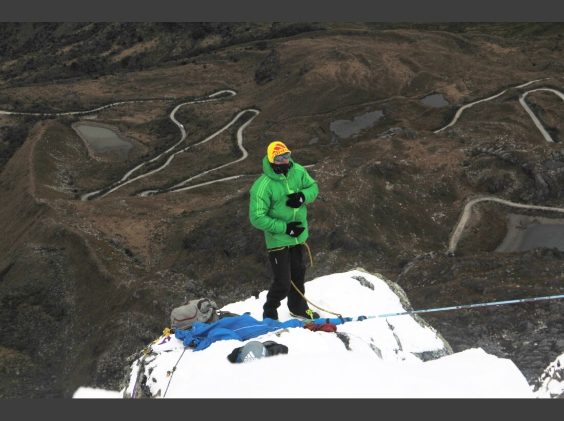 Slackline-Höhenweltrekord in Peru 10