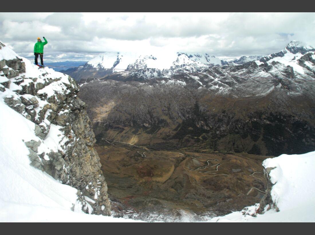 Slackline-Höhenweltrekord in Peru 12