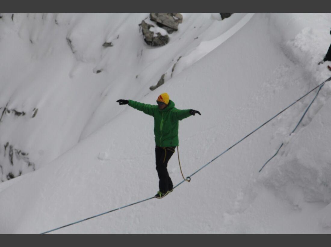 Slackline-Höhenweltrekord in Peru 9