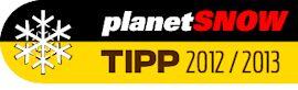 Testsieger-Logo: planetSNOW Skitest TIPP 2012/2013