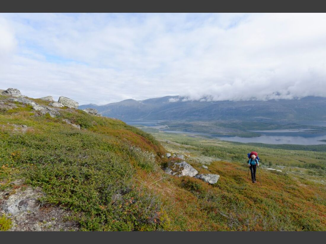 Wildnis-Trekking im Sarek 14