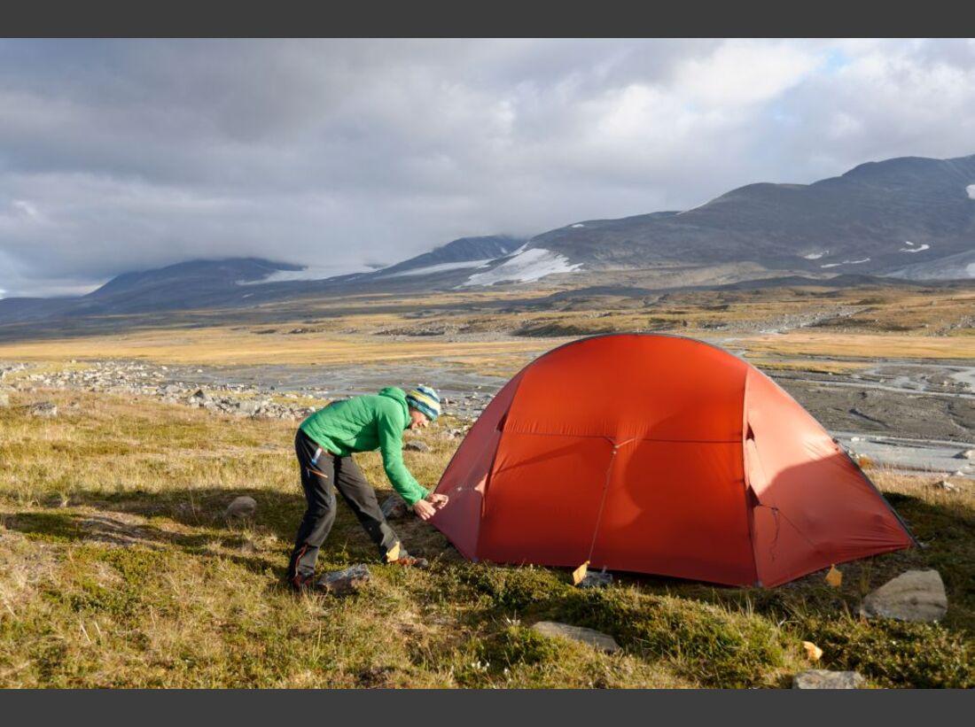Wildnis-Trekking im Sarek 31