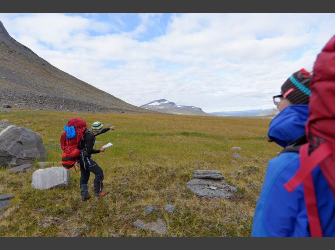 Wildnis-Trekking im Sarek 39