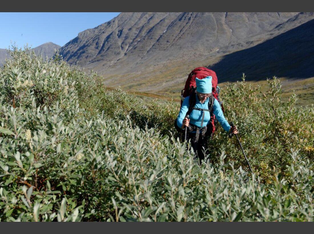 Wildnis-Trekking im Sarek 60