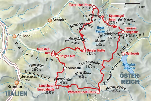 Peter Habeler Runde Traumhafte 6 Tage Tour Outdoor Magazincom